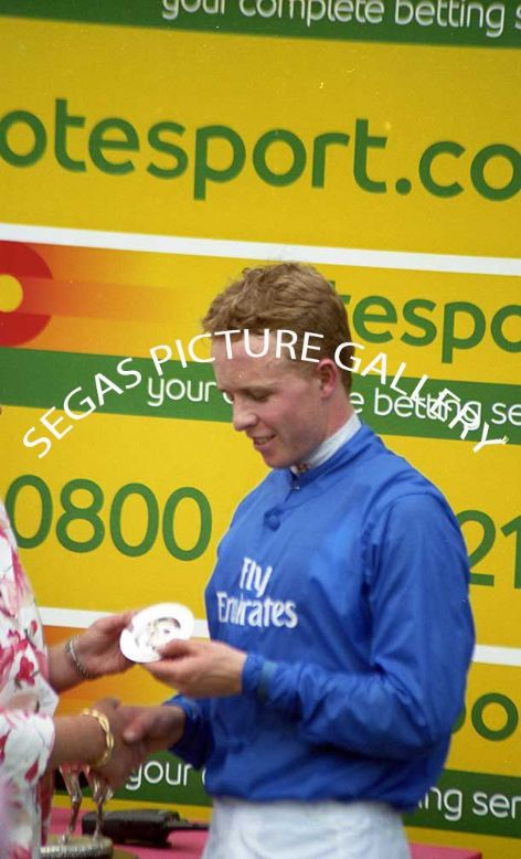 The Jockey Kerrin McEvoy @ Pontefract on the 19th June 2005 rode Songlark